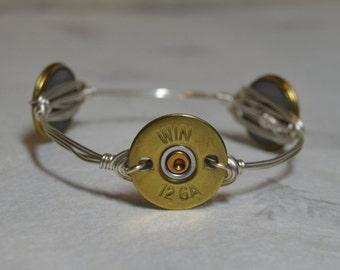 Bullet Bangle Bracelet, Shot Gun Shell Bracelet, 12 Guage Shot Gun Shell Bracelet, Hunter's Bracelet, Bullet Bracelet,