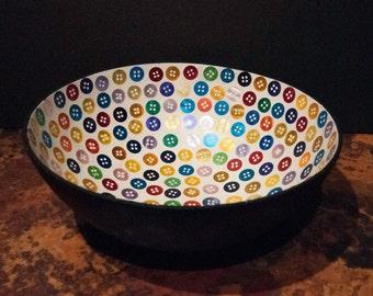 Vintage Button Bowl