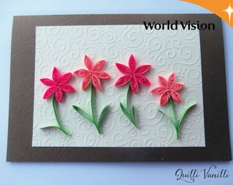 Paper Quilled Card, Charity, Proceeds To Charity, Paper Quilling Card, Quilled Greeting Card, Quilling Greeting Card, Paper Quilling Art