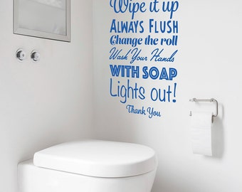 Bathroom wall decal vinyl etsy uk for Bathroom quotes svg