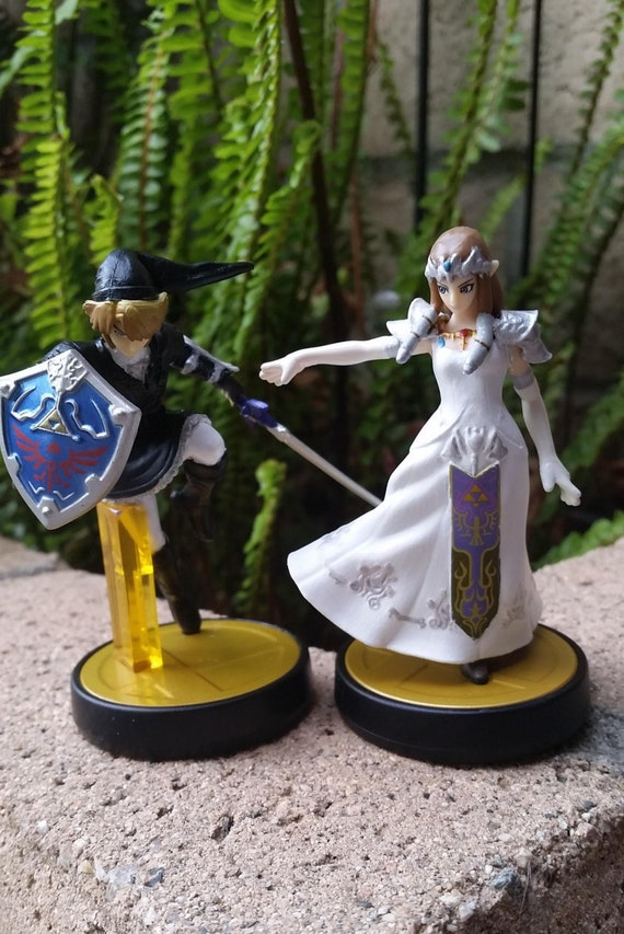 legend of zelda wedding cake topper amiibo custom link princess white wedding dress 16788