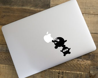 Chibi Ninja Apple Picker For Macbook Laptop Decal Home Decor Car Window Decal Vinyl Sticker Wall