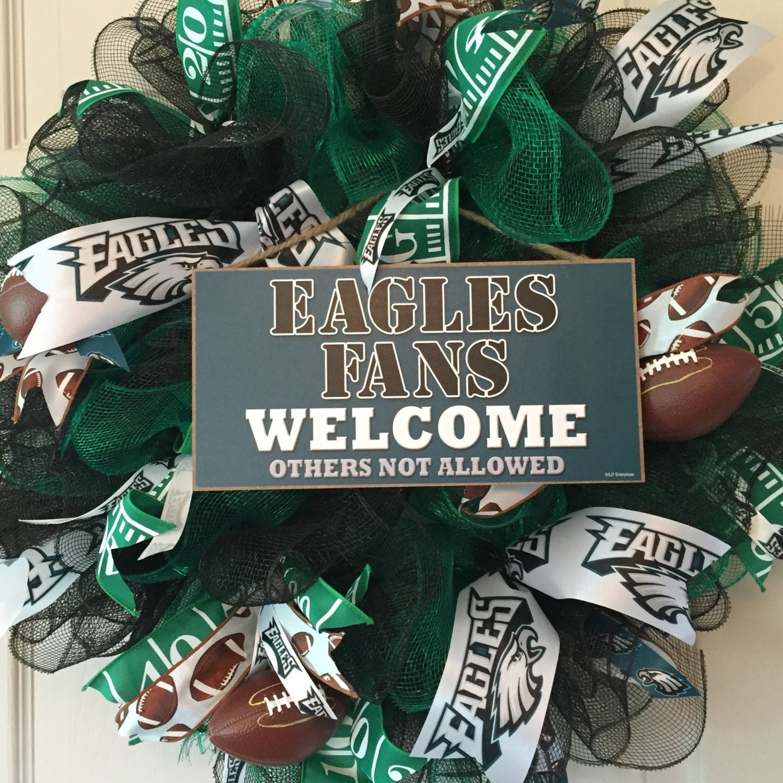 Philadelphia Eagles Mesh Wreath Football Wreath Fall Wreath