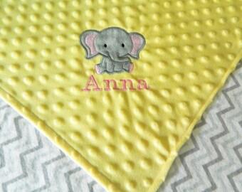 Custom minky and flannel baby blanket