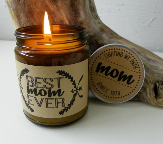 Best Mom Ever Mothers Day Gift For Mother 9 oz Soy Candle Personalized Candle Custom Gift For Mom Personalized Mothers Day Gift for Mum