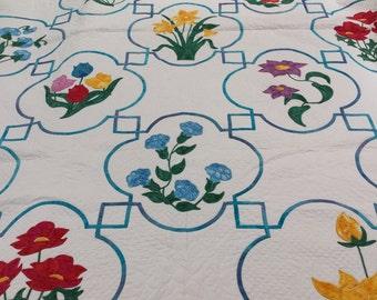 Quilt - Celtic Floral Designs - Handmade - 001071