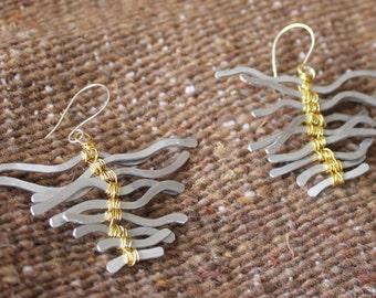Triangular Shaped Statement Earrings