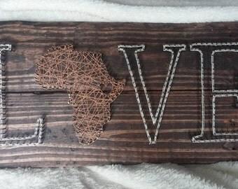 Africa String Art