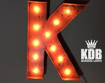 "Letter K Marquee Light - 24"" High"