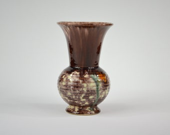 German ceramic vase with glazed multicolored 16 203 Germany with Brown, green and a touch of Orange