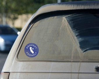 Drought Friendly Car Decal California State