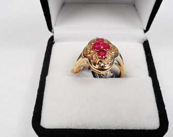 Rubies in a 10 kt. Gold Ring