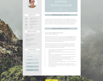 """CV Template   Resume Template   CV Design + Cover Letter + CV Guide for Microsoft Word   Instant Digital Download   """"Carnaby"""""""