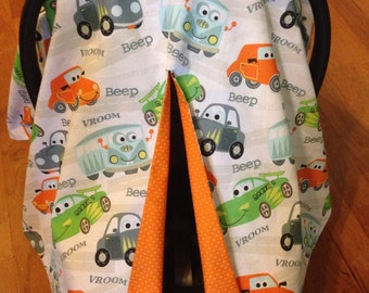 Beep Beep Vroom Car Seat Canopy & Florida Gators Car Seat Canopy