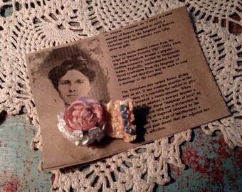 Victorian Rose Tussie Mussie Brooch