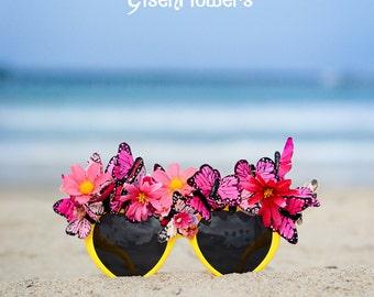 Pink Lemonade Butterfly Sunglasses