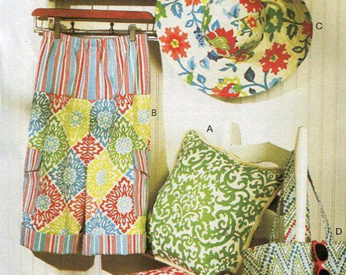 FREE US SHIP Butterick 5933 150th Anniversary Gardening Pants Hat Pillow Tote bag Uncut Sewing Pattern  Sz 4/14 Bust 29 30 32 34 36 New