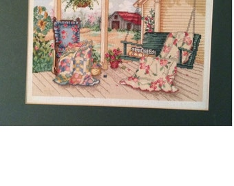 Quilt on Porch Swing