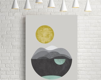 Dunes, giclee art print, abstract art, watercolour print, geometric art, minimalist print, scandinavian art, geometric print, giclee print