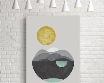 Art prints, abstract art, minimalist art, geometric art, scandinavian art, nordic art, contemporary art, art poster, print giclée, Sun Dunes