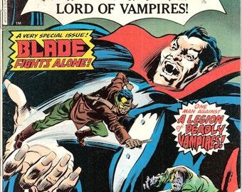 The Tomb of Dracula 58, All BLADE Vampire hunter, Horror Comic book, Universal Blood Monsters. Van Helsing. 1977 Marvel Comics in FN (6.0)