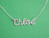 Comic Font Name Necklace / Personalized Name Necklace / Personalized Necklace / Name Plate Necklace / Any Name / Nameplate Necklace/ Girls