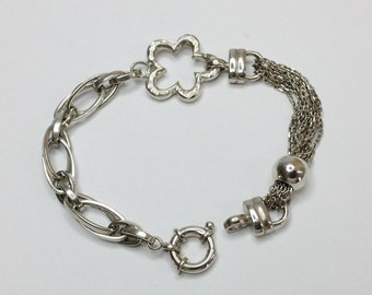 925 Silver anchor bracelet 19 mm SA109