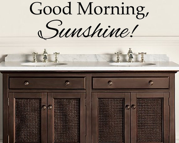 Good Morning Sunshine Letter : Vinyl letters good morning sunshine wall decal