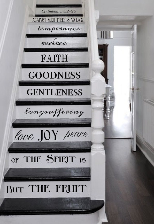 Vinyl Decal Fruit Of The Spirit Stair Decals Galatians 5 22 23