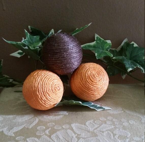 Black Decorative Balls For Bowls: Set Of 3 Fall Colored Vase Fillers Decorative Vase Fillers