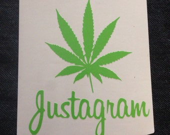 Just-a-gram vinyl decal - Available in all sizes/colors!