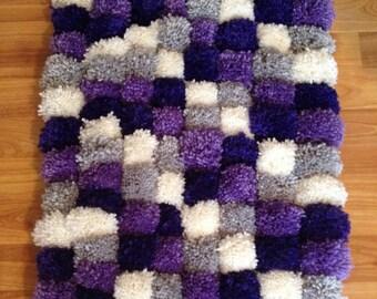 Purple Pom Pom rug