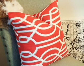 Orange Geometric Pillow