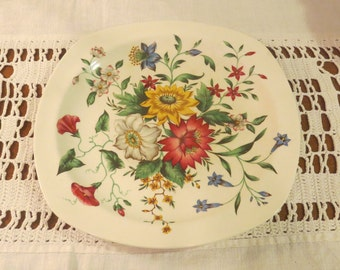 Stylecraft by Midwinter Staffordshire Summertime Semi Porcelain Dinner Plate Made in England