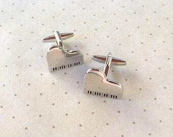 Piano Cufflinks Cuff Links in Silver