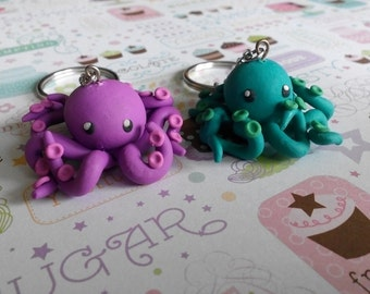 Kawaii Octopus Keychain