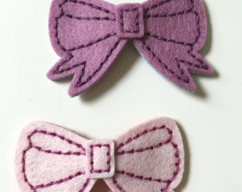 Barbie Bow Felt Hair Clip