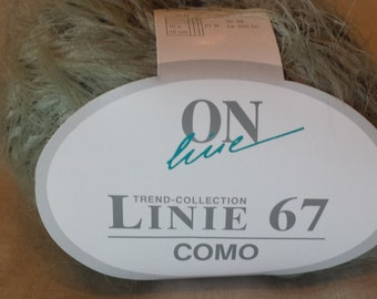 ONline Linie 67 Como Eyelash Yarn 100% Polyamid  Color 19  Moss Green