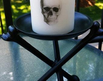 Skull Pillar Candle