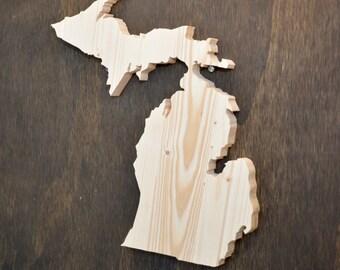 Michigan State Wood Cutout