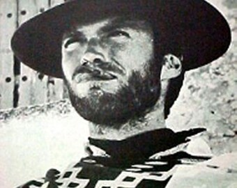 XL~Vintage 1960s~CLINT EASTWOOD~The Good The Bad and The Ugly Poster