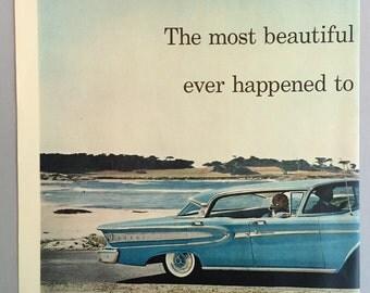 1958 Ford Edsel Double Page Print Ad - Edsel Citation