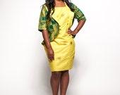 Yellow Woodin Ankara African Print Business Suit