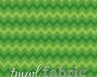 Woven Fabric - Green Tonal Chevron - Fat Quarter Yard +