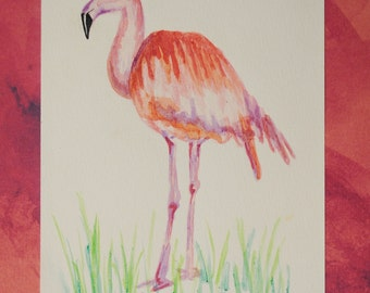 Flamingo *Original Watercolor Painting*