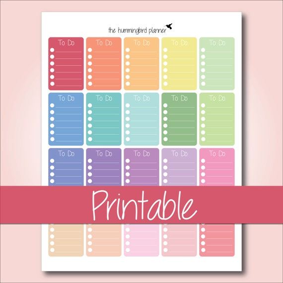 Items similar to happy planner pastel full box to do for Happy planner accessories