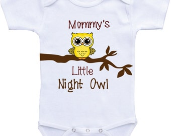 Baby shower gift Funny Baby Clothes Mommy's Little Night Owl-Funny baby onesies, Funny Onesie, Funny Baby gift for Baby girl or Baby Boy