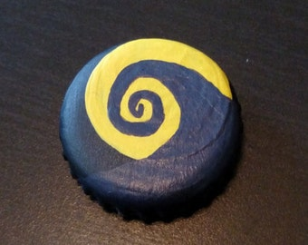 Nightmare Before Christmas Hill Bottle Cap Magnet