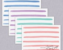 Striped Stationery Set