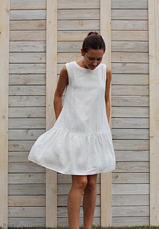 Linen Summer Dress Sleeveless Dress Day Dress By